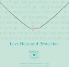 Zilveren Heart to Get necklace, silver, cross, love hope and protection