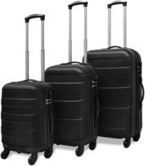 Zwarte Biko VidaXL Harde kofferset 3-delig zwart