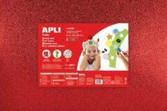 Apli Kids EVA Foam vellen 60 x 40 cm Glitter metallic 4 kleuren - 4 vel