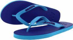 Waves teen slippers unisex paars - blauw maat 38 vegan duurzaam fair rubber flip flops