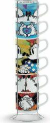 Disney Egan Porseleinen Set 6 Espressokopjes + Metalen houder – Love
