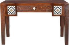Baidani Excl. Designer Schreibtisch AFRICA Materialmix im Used-Look