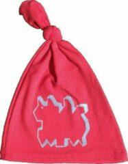 Anha'Lore Designs - Hazel - Babymuts - Rood/lichtblauw