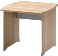 Gamillo Furniture Bureau Jazz 80 cm breed in beuken met licht grijs
