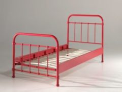 Vipack Furniture Vipack Metallbett New York 90x200 cm, rot