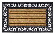 Bruine Deurmatshop.nl Kokosmat met print / Impala Brush Rectangle / 45 cm x 75 cm