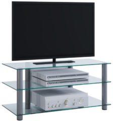 TV-Rack Lowboard Konsole Fernsehtisch TV Möbel Bank Glastisch Tisch Schrank 'Netasa' VCM Klarglas