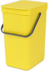 Gele Brabantia Sort & Go Prullenbak - 12 l - Yellow