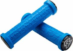 Blauwe Race Face Grippler handvatten, blue Diameter 33mm