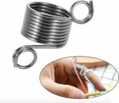 Zilveren Hiden | Brei Vingerhoed - Draadgeleider - Naalden & Breien - Hobby - Hulpmiddel
