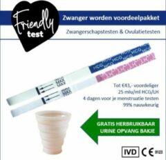 Friendly Test Zwanger worden voordeelpakket zwangerschapstest ovulatietest (dipstick) 4 maand voorraad