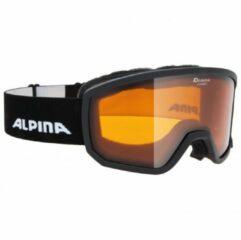 Alpina - Scarabeo S Doubleflex Hicon S2 - Skibril zwart/oranje/grijs