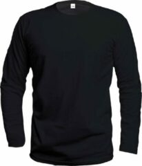 Zwarte InSilk Rondhals Heren T-shirt Maat L