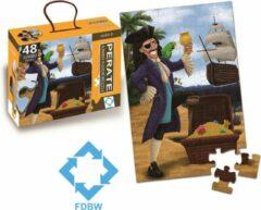 FDBW Vloerpuzzel kinderen 3 jaar – Piraat | Puzzel Piraat | Puzzel Vloerpuzzel | Jumbo Puzzel | Kinderpuzzel – Vloerpuzzel – 48 stukjes | 90 cm x 60 cm