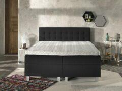 Antraciet-grijze Complete Opbergboxspring 180x200 cm - Pocketvering matrassen - Dreamhouse Ilse - Tweepersoons bed met opbergruimte