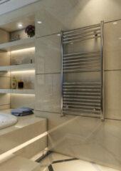 Eastbrook Wingrave verticale verwarming 180x40cm Chroom 524 watt