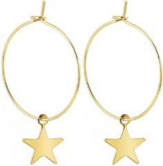 LGT JWLS LGT Jewels Damesoorbellen met Grote Ring en Gouden Ster