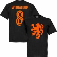 Zwarte Retake Nederlands Elftal Wijnaldum 8 Lion T-Shirt - XS