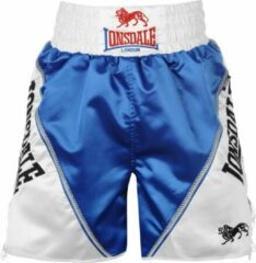 Witte Lonsdale Pro Large Logo Braid & Tassle Trunks Blue/White - Boksbroek - Maat XL