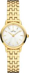 Gouden Danish Design watches edelstalen dameshorloge Akilia Mini Link Gold IV91Q1268