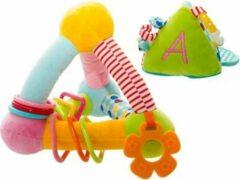 Rammelaar Stof - 2 Delig - Imaginarium Baby Speelgoed - Piramide
