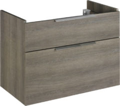 Saniselect Bali Wastafelonderkast 2 laden 82,5x44,2x65 cm metz met greep