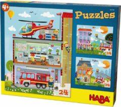 HABA Sales GmbH & Co.KG Haba Puzzel Kleine Brandweerkazerne 3 Stuks 24-delig