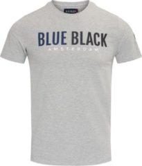 Blue Black Amsterdam Heren T-shirt Tony - Grijs Melange - Maat M