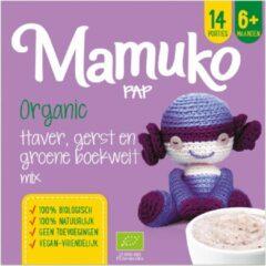 Mamuko biologische pap 6+ mnd - haver, gerst en groene boekweit (4 x 240 gr.)