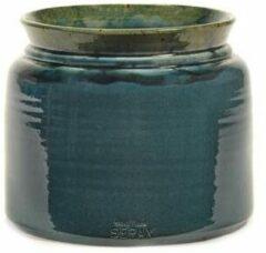 Serax Bloempot Reactive Blue Blauw-Donker Blauw D 23 cm H 19 cm
