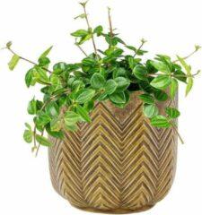 Gele Ter Steege Pot Cecile ochre bloempot binnen 14 cm