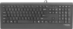 Natec Barracuda - Toetsenbord - Slim Design - USB - US Layout - Zwart