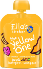 6x Ella's kitchen Knijpzakje Fruit Smoothie 6+ m Banaan Appel Mango Abrikozen 90 gr