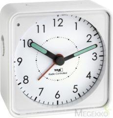 TFA 60.1510.02 Wekker Zendergestuurd Wit Fluorescerende Wijzers