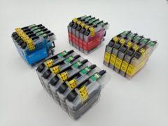 Cyane KATRIZ® huismerk inkt voor Brother 5x LC223XL BK +5x LC223XL C+ 5x LC223XL M+ 5x LC223XL Y (20stuks) - Met chip