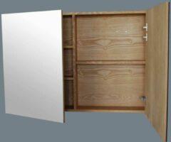 Lambini Designs Wood spiegelkast Eiken 120cm