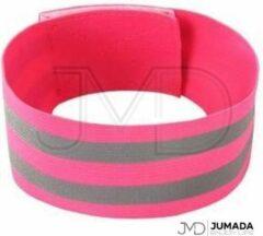 Jumada Reflecterende Hardloop Verlichting - Sportarmband - Veiligheid - One Size - Roze