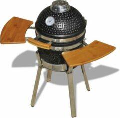 Zwarte VidaXL Kamado Houtskoolbarbecue - Keramisch - 76 cm