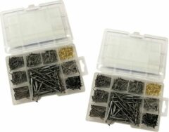 Wood, Tools & Deco Set van 1950 metalen spijkers (mix assortiment, 13-80 mm lengte)