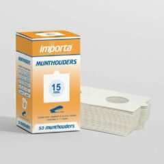 Witte Importa Munthouders om te nieten 15mm - 50 stuks