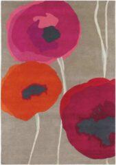 Sanderson - Laagpolig vloerkleed Sanderson Poppies Red Orange 45700 - 170x240 cm