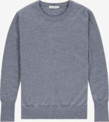 Grijze The Clothed BARCELONA - Grey melange crew neck extrafine merino pullover