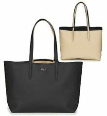Lacoste Ladies Reversible Shopping Bag black warm sand Damestas