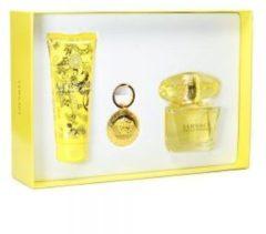 Versace Yellow Diamond Confezione Regalo 90ml EDT 100ml Lozione Corpo Etichetta Borsa