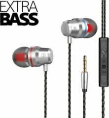 DrPhone SoundLUX® In-Ear Bekabelde Oordoppen met Jack Aansluiting – Earbuds – Hoge BASS – Hi-Res – Zilvergrijs