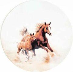 Bruine Moodadventures | Muismatten | Muismat Rond Paarden | Rubber | 20x20