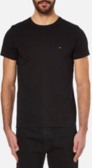 Zwarte Tommy Hilfiger Men's New Stretch Crew Neck T-Shirt - Flag Black - XL - Black