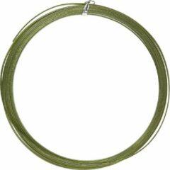 Creotime Alu draad, b: 3,5 mm, dikte 0,5 mm, groen, plat, 4,5m