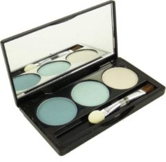 Blauwe Jean Marcel Jean D'Arcel brillant Eye Shadow Trio Oogschaduw Pallette Oogmake-up 3x1.5g - 3 light blue / zart blau
