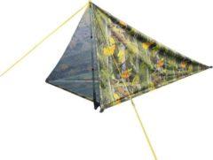 Groene MacGyver® '3-in-1' Tent   Tent – Schaduwdoek – Hangmat   Strandtent   Outdoor-tent   Shelter   Vistent   280 x 280 cm   Camouflage   Waterdicht   Lichtgewicht